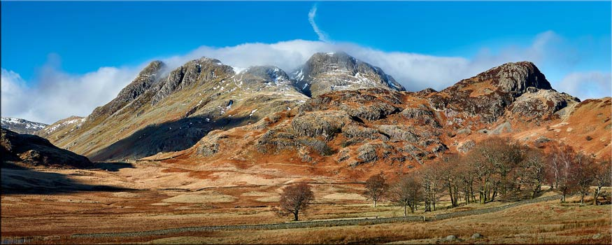 Last Snow On Langdales - Lake District