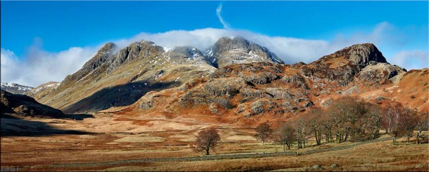 Last Snow On Langdales - Canvas