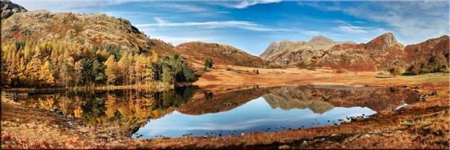 Blea Tarn Autumn Panorama - Canvas Prints
