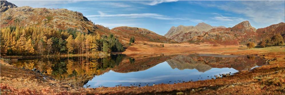 Blea Tarn Autumn Panorama - Canvas Prints