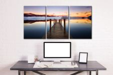 Ashness Jetty Dawn - 3 Panel Canvas on Wall
