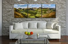 Deepdale and Dovedale Panorama - 3 Panel Canvas on Wall