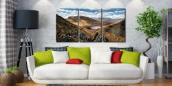 Grisedale Tarn Bowl - 3 Panel Canvas on Wall