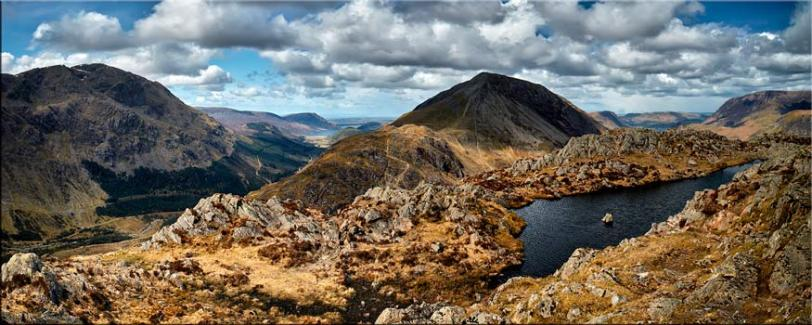 Pillar and High Crag from Haystacks - Canvas Prints