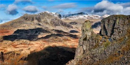 Eskdale Needle and Scafell Mountains - Canvas Print