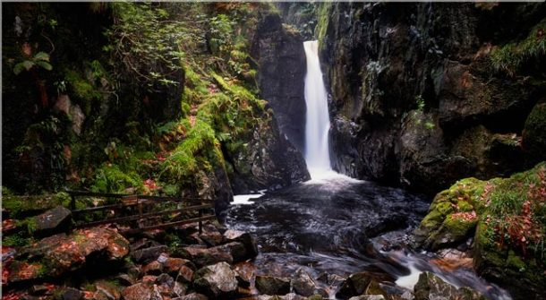 Stanley Ghyll Force - Canvas Print