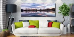 Colours of Dawn at Derwent Water - Canvas Print on Wall