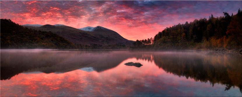 Thirlmere Autumn Sunrise - Lake District Canvas