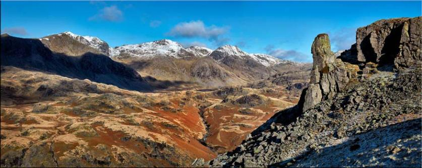 Eskdale Needle Winter Panorama - Canvas Prints