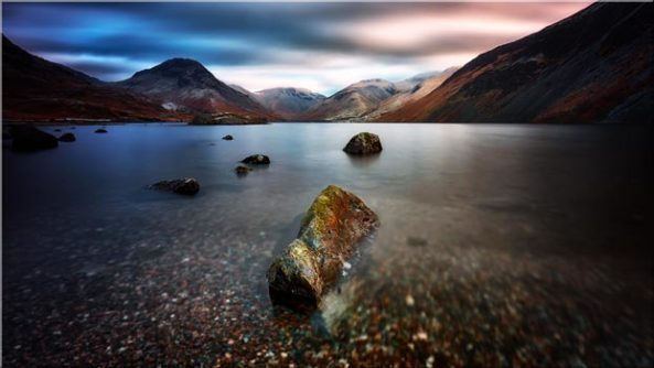 Wast Water Smooth - Canvas Print