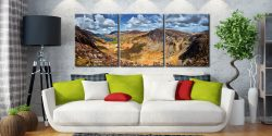 Fleetwith Pike and Buttermere Valley - 3 Panel Canvas on Wall