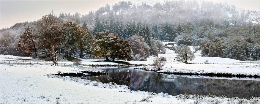 River Brathay Winter Wonderland - Canvas Prints