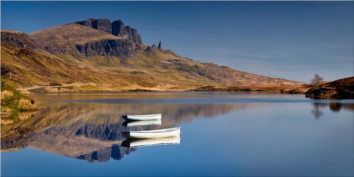 Peaceful Morning at Loch Fada - Isle Skye Canvas