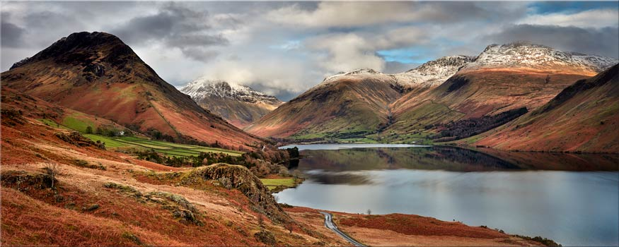 Snow on Mountains at Wast Water - Canvas Print
