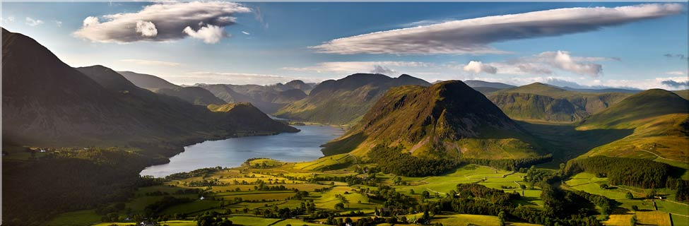 Morning Sunshine on Crummock Water - Canvas Prints