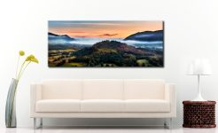 Dawn Mists Over Bassenthwaite Lake - Canvas Print on Wall