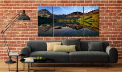 Stillness at Buttermere - 3 Panel Wide Centre Canvas on Wall