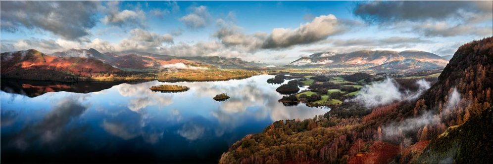 Derwent Water Morning Mists - Canvas Prints