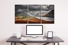 Winter Colours of Wast Water - 3 Panel Canvas on Wall