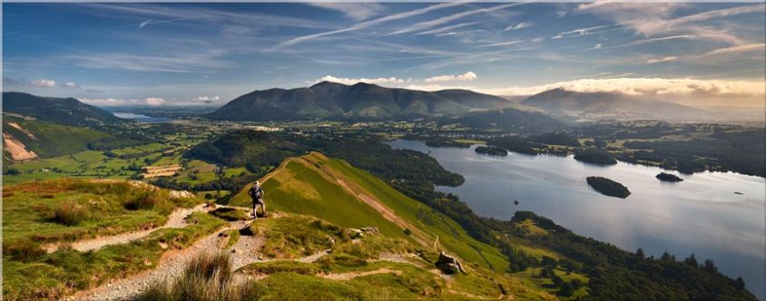 Cat Bells Panoramic View - Canvas Prints
