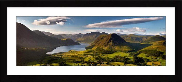 Morning Sunshine on Crummock Water - Framed Print