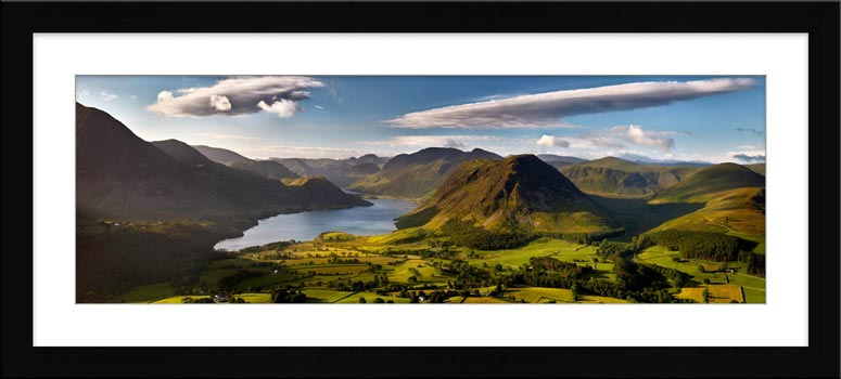 Morning Sunshine on Crummock Water - Framed Print
