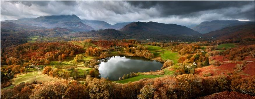 Loughrigg Tarn in Autumn Sunshine - Canvas Prints