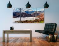 Sunbeams Over Martindale - 3 Panel Wide Centre Canvas on Wall