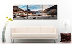 Snowy Day at Wast Water - 3 Panel Canvas on Wall