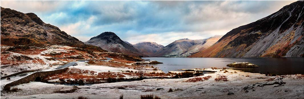 Snowy Day at Wast Water - Canvas Print