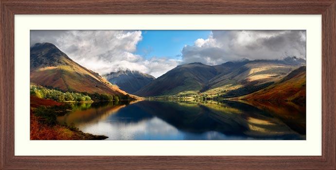 Wasdale Head Panorama - Framed Print