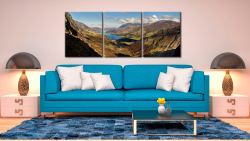 Buttermere Valley Green Crag - 3 Panel Canvas on Wall