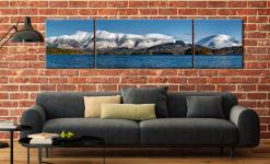 Skiddaw and Saddleback - 3 Panel Wide Centre Canvas on Wall