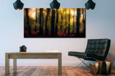 Sherwood Forest Woodland Golden Light - Canvas Print on Wall