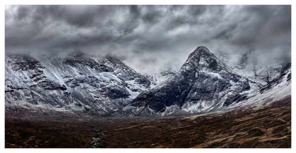 Black Cuillins Snow Fall - Isle of Skye Print