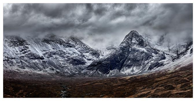 Black Cuillins Snow Fall - Isle of Skye Print