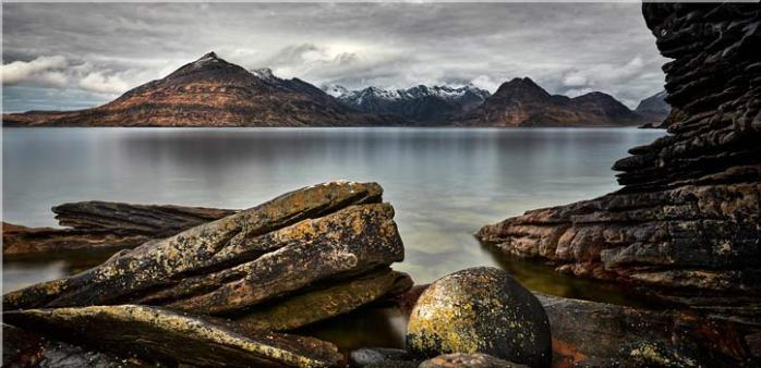 Cuillin Mountains From Elgol - Canvas Print