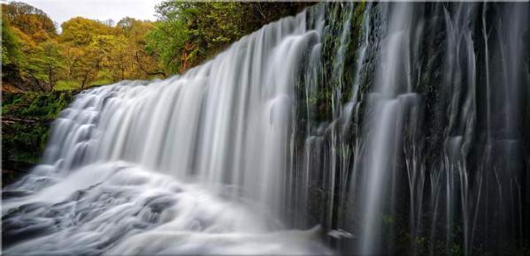 Breacon Beacons Waterfall - Canvas Print