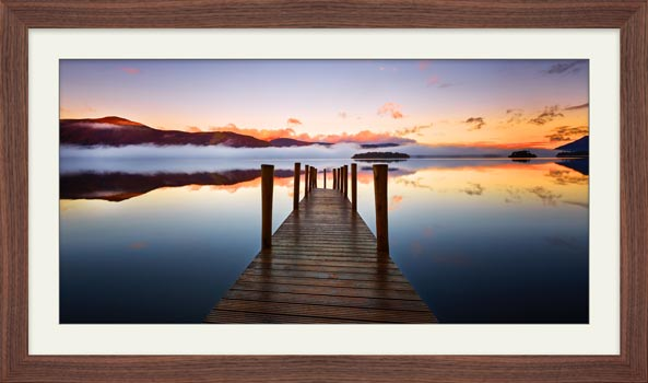 Ashness Jetty Dawn - Framed Print with Mount