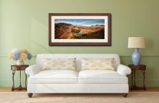 Blea Tarn From Lingmoor Fell - Framed Print with Mount on Wall