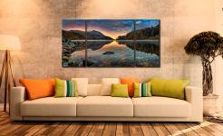 Thirlmere Autumn Dawn - 3 Panel Wide Centre Canvas