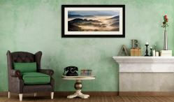 Rolling Hills of Little Langdale - Framed Print with Mount on Wall