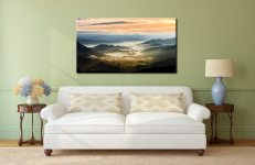 Little Langdale in the Mist - Canvas Print on Wall
