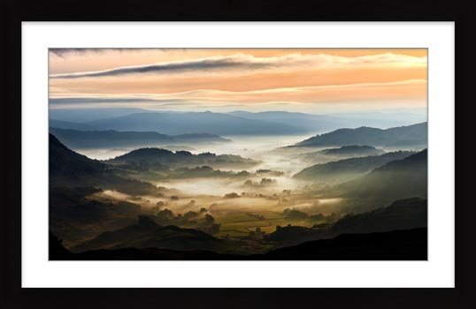 Little Langdale in the Mist - Framed Print