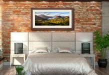 Loweswater Fell Vista - Framed Print with Mount on Wall