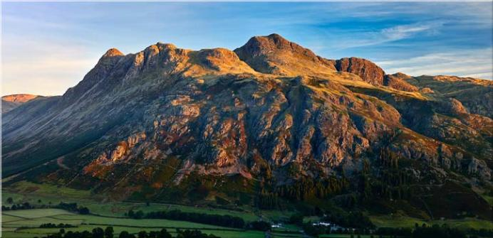 The Langdale Pikes in the Morning Light - Lake District Print
