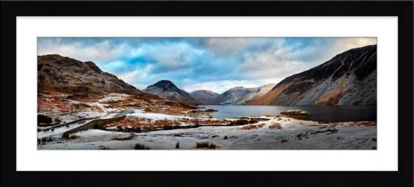 Snowy Day at Wast Water - Framed Print with Mount