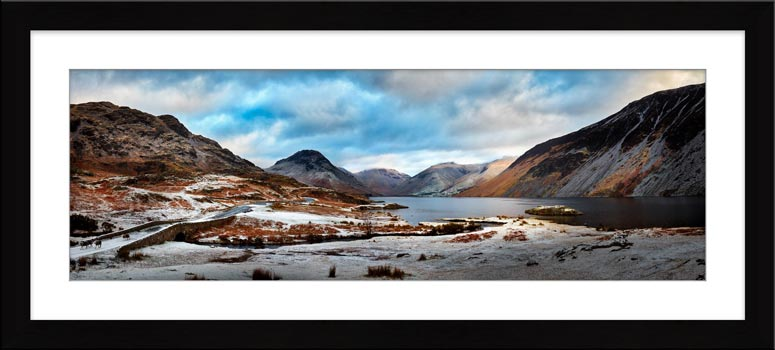 Snowy Day at Wast Water - Framed Print