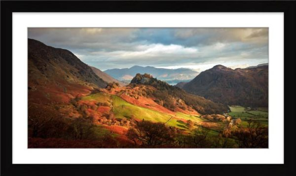 Castle Crag and Kings How - Framed Print with Mount