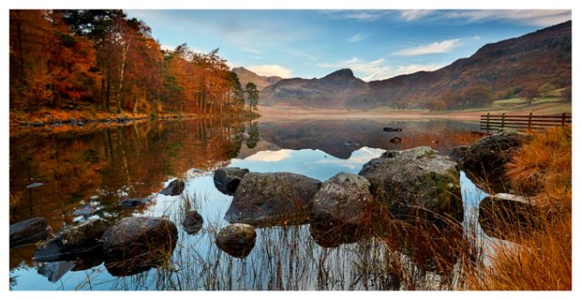 Golden Autumn Blea Tarn - Lake District Print